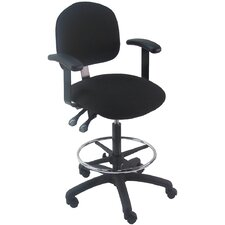 <strong>Bench Pro</strong> Mid-Back Tall Industrial Office Chair with Fix Arm and Adjustable Seat Angle