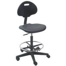 <strong>Bench Pro</strong> Mid-Back Tall Industrial Office Chair with Adjustable Footring