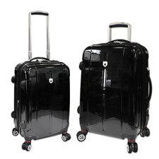 Berlin 2 Piece Expandable 4-Wheels Hardcase Luggage Set