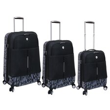 Tilburg 3 Piece EVA Expandable Hybrid Spinner Luggage Set