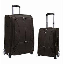 Monaco 2 Piece EVA Expandable EVA Set with Shoe / Accessory Pocket Luggage Set