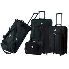 Euro Value II Deluxe 4 Piece Luggage Set