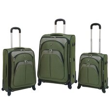Lexington 3 Piece Expandable Spinner Luggage Set