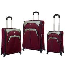Lexington 3 Piece Expandable Spinner Luggage Set