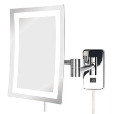 Direct Wire Wall Mount Rectangular Makeup Mirror