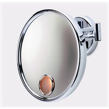 Lighted 3X Magnifying Wall Mount Mirror in Chrome