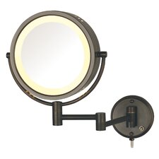 Dual Sided Wall Mount Halo Lighted Mirror