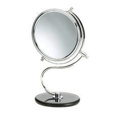 "<strong>Jerdon</strong> 11"" H x 7"" W Dual Sided Vanity Mirror"