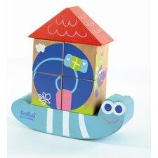 Wooden Cube Puzzle Snail