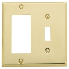 Classic Square Bevel Design Combination of Single GFCI and Toggle Switch Plate