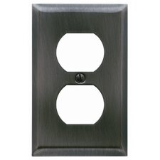 Classic Square Bevel Design Single Duplex Switch Plate