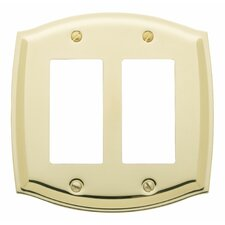 <strong>Baldwin</strong> Colonial Design Double GFCI Switch Plate