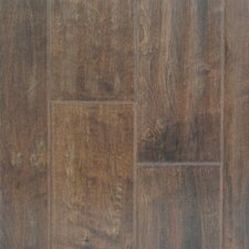 "Distressed Plank 5"" Engineered Maple Flooring in Molasses"