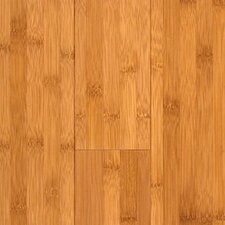 "Prefinished Horizontal 3-3/4"" Solid Bamboo Flooring in Carbonized Matte"