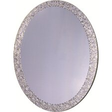"31.5"" H x 23.6"" Frameless Crystal Wall Mirror"