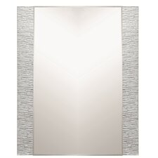 "31.5"" H x 23.6"" Frameless Molten Wall Mirror"