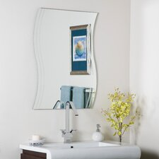 "31.5"" H x 23.6"" W Frameless Surf Wall Mirror"