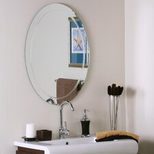 "<strong>Decor Wonderland</strong> 31.5"" H x 23.5"" W Frameless Aldo Wall Mirror"