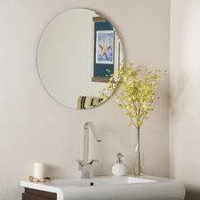 "<strong>Decor Wonderland</strong> 23.6"" H x 23.6"" W Frameless Liam Wall Mirror"