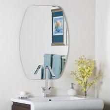 "<strong>Decor Wonderland</strong> 31.5"" H x 23.6"" W Frameless Freddie Wall Mirror"