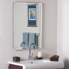 Frameless Zebra Wall Mirror