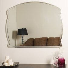"<strong>Decor Wonderland</strong> 31.5"" H x 39.5"" W Frameless Diane Wall Mirror"