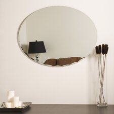 "<strong>Decor Wonderland</strong> 31.5"" H x 23.6"" W Frameless Ava Wall Mirror"
