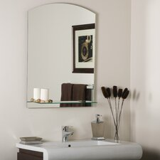 "31.5"" H x 23.6"" W Arch Frameless Wall Mirror"
