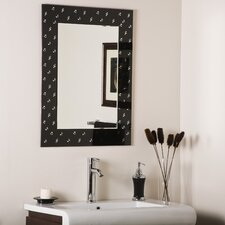 "<strong>Decor Wonderland</strong> 31.5"" H x 23.6"" W Carnagie Hall Framed Wall Mirror"