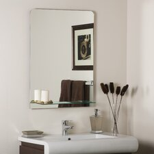 "31.5"" H x 23.6"" W Columbus Frameless Wall Mirror"