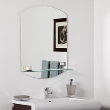 "31.5"" H x 23.6"" W Vanessa Modern Bathroom Mirror"