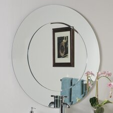 <strong>Decor Wonderland</strong> Oriana Modern Round Wall Mirror
