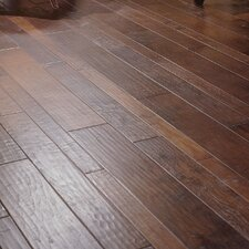 Random Width Engineered Walnut Flooring in Black