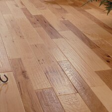 Random Width Engineered Hickory Flooring in Spicy Cider
