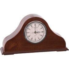 <strong>American Furniture Classics</strong> Remington Mantel Clock in Burnished Brown Cherry