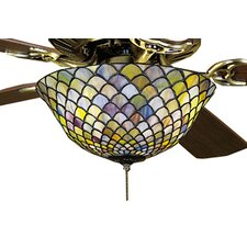 Tiffany Fishscale 3 Light Ceiling Fan Light