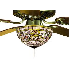 Victorian Tiffany Turning Leaf Fan Light Fixture