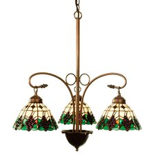 Tiffany Fruit Grape 3 Light Chandelier
