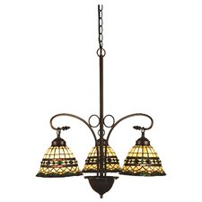 Tiffany Roman 3 Light Chandelier