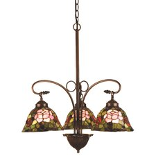 <strong>Meyda Tiffany</strong> Tiffany Rosebush 3 Light Chandelier
