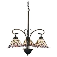 Victorian Daffodil Bell 3 Light Chandelier