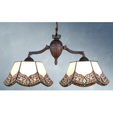 <strong>Meyda Tiffany</strong> Mariposa 2 Light Kitchen Island Pendant