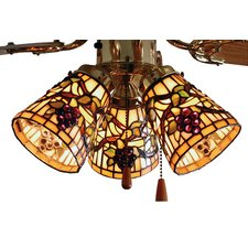 <strong>Meyda Tiffany</strong> Tiffany Jeweled Grape Fan Light Shade