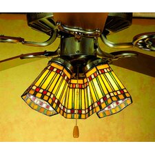 "4"" W Prairie Corn Fan Light Shade"