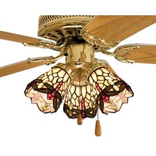 "4"" W Tiffany Hanginghead Dragonfly Fan Light Shade"