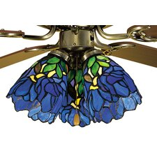 "5"" Iris Glass Bell Ceiling Fan Fitter Shade"