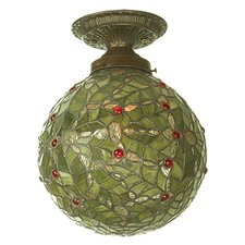 1 Light Holly Ball Semi Flush Mount