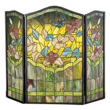 Butterfly 3 Panel Fireplace Screen