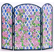 Rose Trellis 3 Panel Fireplace Screen