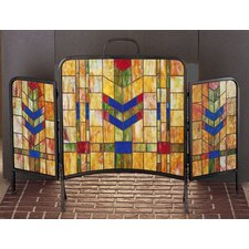 Prairie Wheat 3 Panel Fireplace Screen